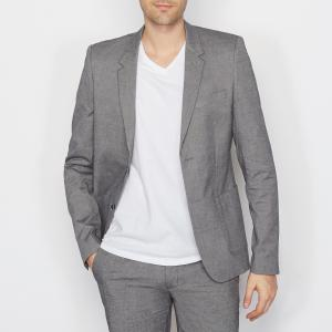 Блейзер с карманами, рукава пуговицами SOFT GREY La Redoute Collections. Цвет: серый