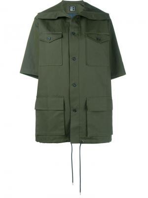 Куртка с короткими рукавами 1205. Цвет: зелёный
