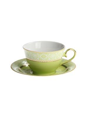 Набор чайный 2 предмета 200 мл. PATRICIA. Цвет: светло-зеленый