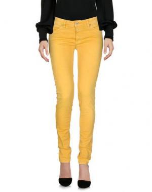 Повседневные брюки PLEASE. Цвет: желтый