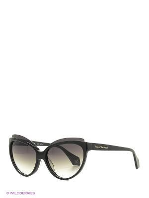 Солнцезащитные очки VW 876S 01 Vivienne Westwood. Цвет: черный