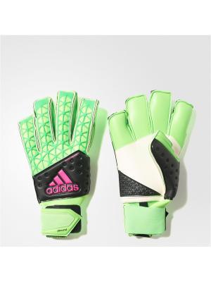 Вратарские перчатки взр. ACE ZONES ALLRO  SGREEN/CBLACK/SHOPIN Adidas. Цвет: салатовый