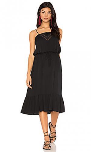 Миди платье на бретельках victorian AUGUSTE. Цвет: черный