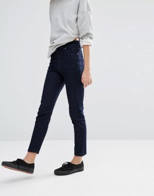 Dr Denim Укороченные джинсы скинни с завышенной талией. Цвет: синий