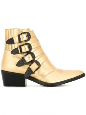Ботинки с ремешками на пряжке Toga Pulla. Цвет: металлический