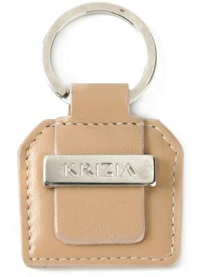 Брелок с логотипом Krizia Vintage. Цвет: телесный