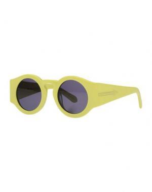 Солнечные очки KAREN WALKER. Цвет: кислотно-зеленый