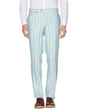 Повседневные брюки HARRY & SONS. Цвет: небесно-голубой