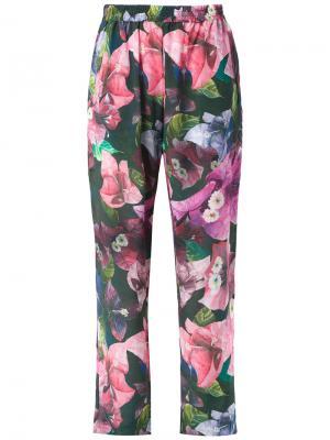 Silk trousers Isolda. Цвет: розовый и фиолетовый