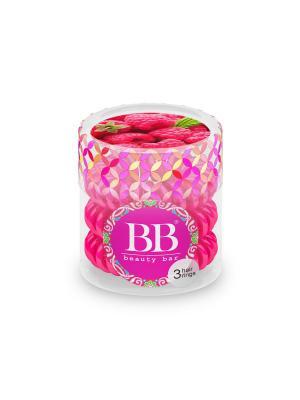 Резинка-спиралька для волос малиновая Beauty Bar. Цвет: розовый