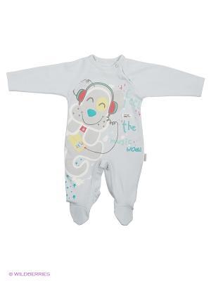 Комбинезон для малышей WO&GO. Цвет: серо-голубой