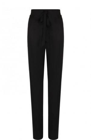 Однотонные брюки с эластичным поясом и лампасами Tom Ford. Цвет: черный