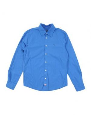 Pубашка COTTON BELT. Цвет: синий