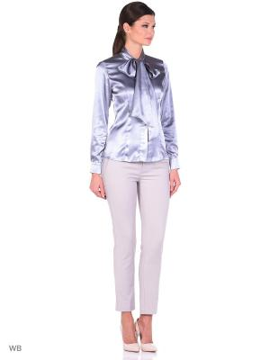 Блузка SEVONA. Цвет: серебристый