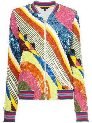 Куртка-бомбер с узором Manish Arora. Цвет: многоцветный