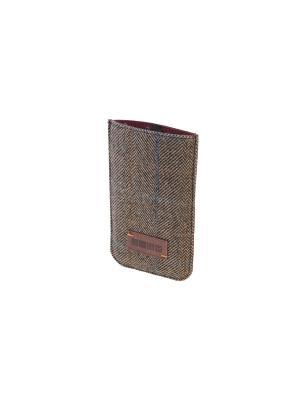 Чехол  для телефона DOVER р97 твид/кожа коричневый INTERSTEP. Цвет: коричневый
