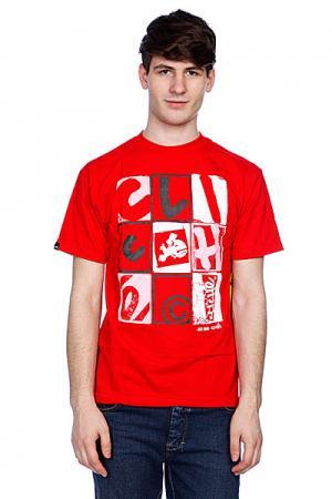 Футболка  Letterpress Red Cliche. Цвет: красный