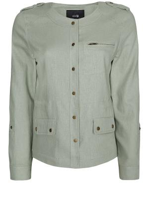 Куртка Oodji. Цвет: светло-зеленый