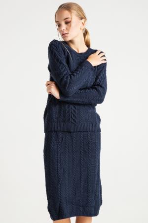 Комплект: юбка, свитер BGN. Цвет: navy, темно-синий