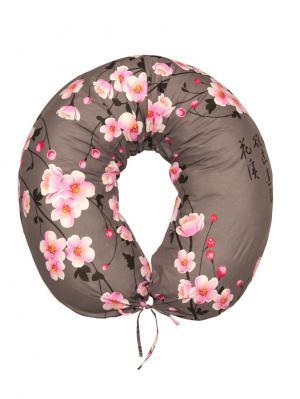 Подушка для беременных и кормящих Здоровье комфорт. Цвет: розовый, коричневый, бежевый