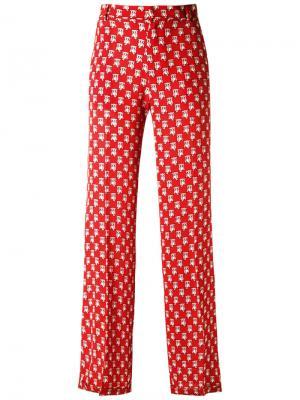 Printed trousers Reinaldo Lourenço. Цвет: красный