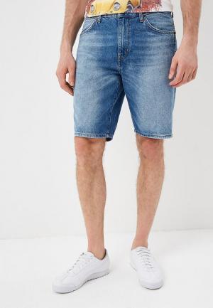 Шорты джинсовые Wrangler. Цвет: голубой