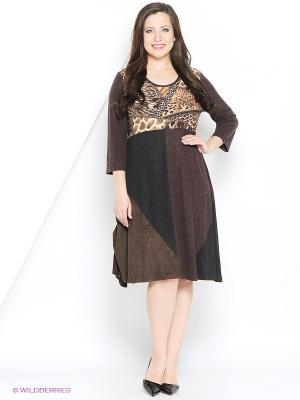Платье МадаМ Т. Цвет: черный, коричневый
