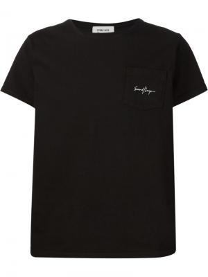Front pocket logo T-shirt Second/Layer. Цвет: чёрный
