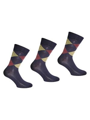Носки 3 пары Master Socks. Цвет: темно-синий