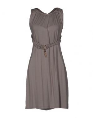 Короткое платье JUST FOR YOU. Цвет: голубиный серый