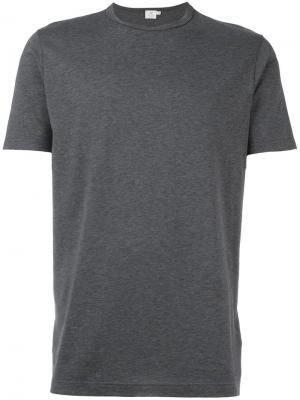 Футболка Classic Designer Sunspel. Цвет: серый