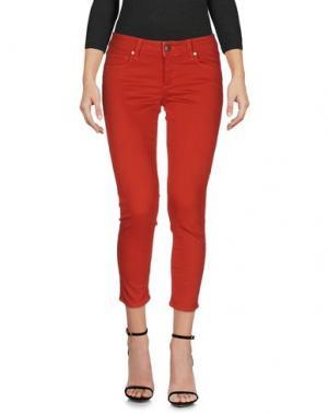 Джинсовые брюки-капри PAIGE. Цвет: ржаво-коричневый