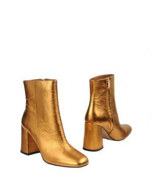 Полусапоги и высокие ботинки BIANCA DI. Цвет: бронзовый