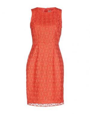 Короткое платье INTROPIA. Цвет: коралловый