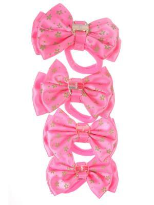 Бантики на резинке Радужки. Цвет: розовый