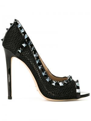 Туфли с заклепками Gianni Renzi. Цвет: чёрный