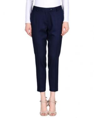 Повседневные брюки SAISON. Цвет: темно-синий