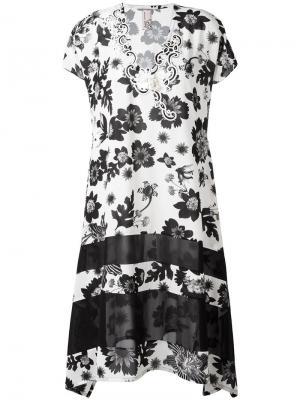 Платье с цветочным принтом Antonio Marras. Цвет: белый