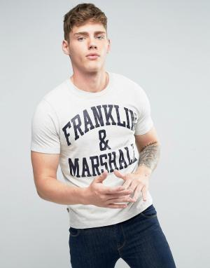 Franklin & Marshall Футболка с логотипом and. Цвет: серый