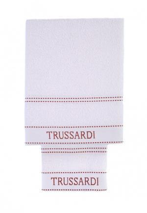 Комплект полотенец 2 шт. Tru Trussardi. Цвет: белый