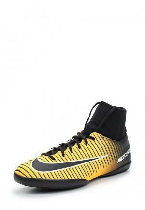 Бутсы зальные Nike. Цвет: желтый