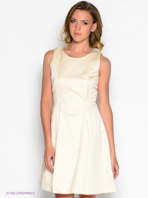Платье GANT. Цвет: светло-желтый
