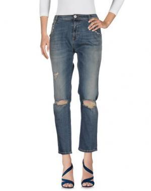 Джинсовые брюки ALMAGORES. Цвет: синий