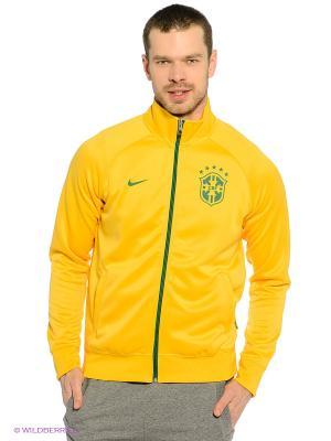 Толстовка Nike. Цвет: желтый