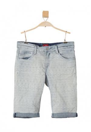Шорты джинсовые s.Oliver. Цвет: голубой