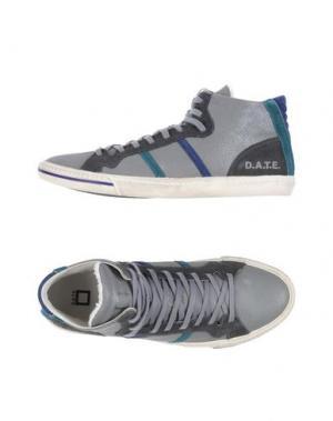 Высокие кеды и кроссовки D.A.T.E.. Цвет: серый