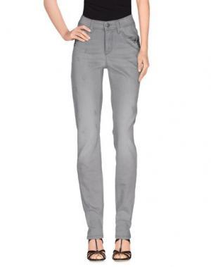 Джинсовые брюки CAMBIO. Цвет: светло-серый