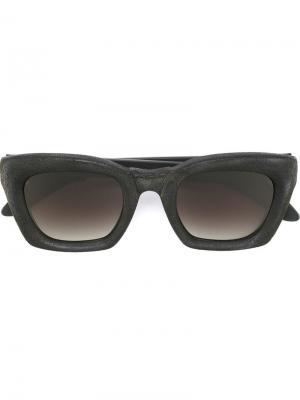 Солнцезащитные очки Mask EF2 Kuboraum. Цвет: чёрный