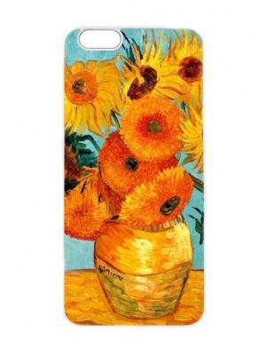 Чехол для iPhone 6 Ван Гог- Подсолнухи Chocopony. Цвет: оранжевый, серо-голубой, коричневый