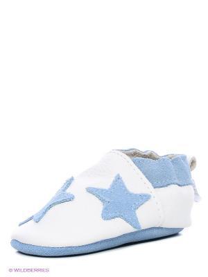 Ботиночки Shooshoos. Цвет: голубой, белый
